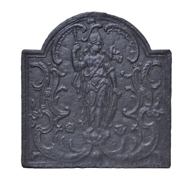 """Minerva"", antique cast iron fireback - Reference 10323"