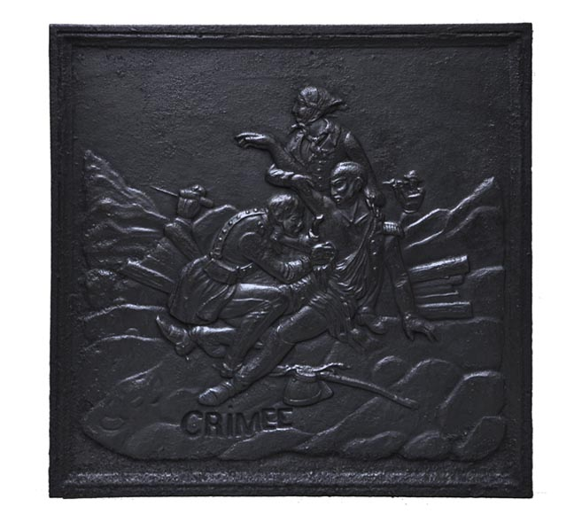 """The Crimean Battle"", antique cast iron fireback - Reference 10330"