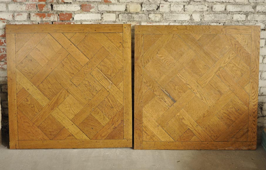 Oak wood Versailles parquet floor with dowels, 50 panels - Reference 10350