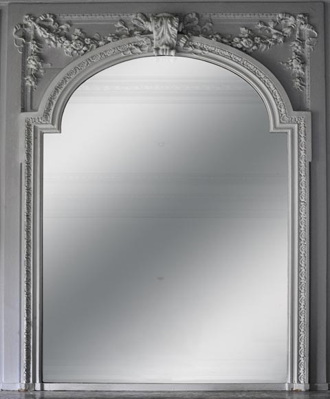 Antique Napoleon III style overmantel mirror, 19th century - Reference 10388
