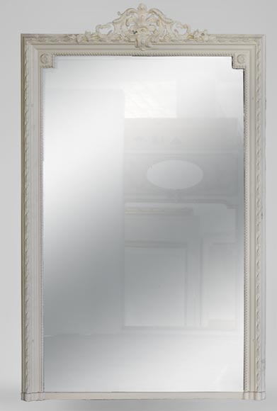 Antique Transition style overmantel mirror - Reference 10397