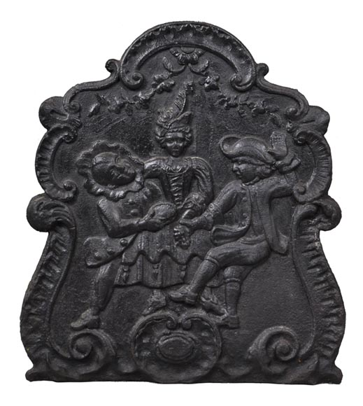 """Danse"", antique 19th century fireback - Reference 10405"