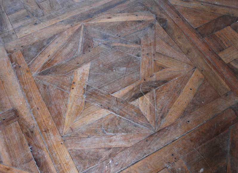 Paneled room and rare parquet flooring from the 18th century-20