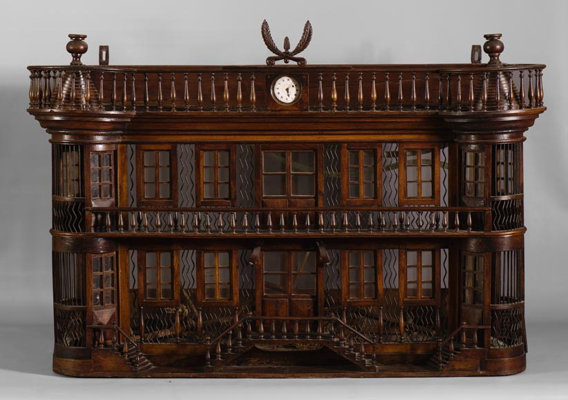 Rare antique bird cage in the shape of a miniature castle, late 19th century-1