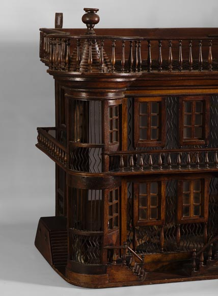 Rare Antique Bird Cage In The Shape Of A Miniature Castle
