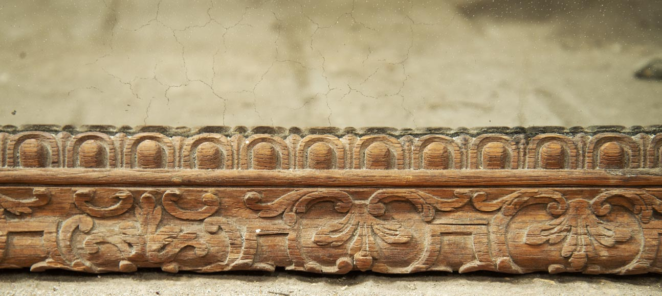 Regence style oak trumeau with a pediment decorated with horns of plenty-8