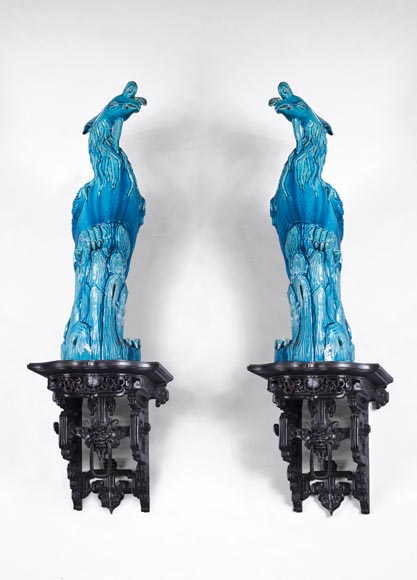 Eugène-Frédéric PIAT (1827-1903) - Pair of Japanese wall brackets, a similar model of which belonged to Sarah Bernhardt-0