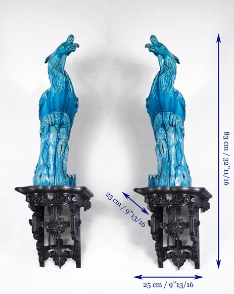 Eugène-Frédéric PIAT (1827-1903) - Pair of Japanese wall brackets, a similar model of which belonged to Sarah Bernhardt-8