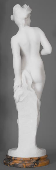 Edouard FORTINY (actif 1870-1920) - Subject made out of statuary marble representing a bather.-8