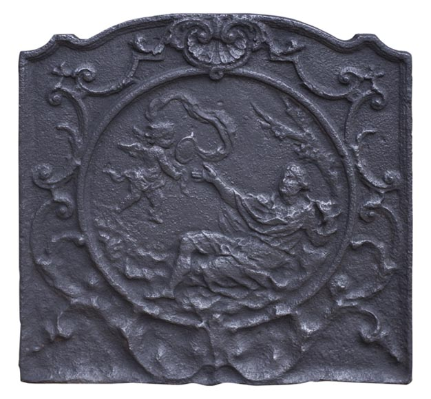 19th century fireback representing Venus with a Mirror - Reference 10553