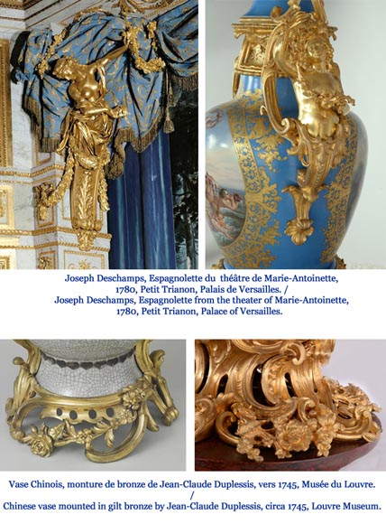 Napoleon III monumental vase in Porcelain of Paris with the Triumph of Venus mounted in gilt bronze with espagnolettes-20