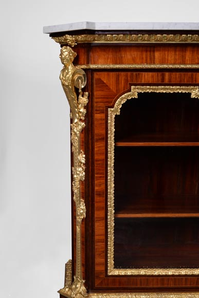 MONBRO (att. to) Pair of cabinets with  espagnolettes in gilt bronze-2