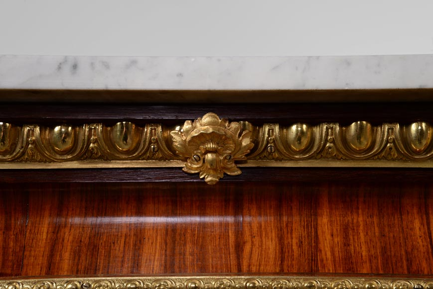 MONBRO (att. to) Pair of cabinets with  espagnolettes in gilt bronze-6