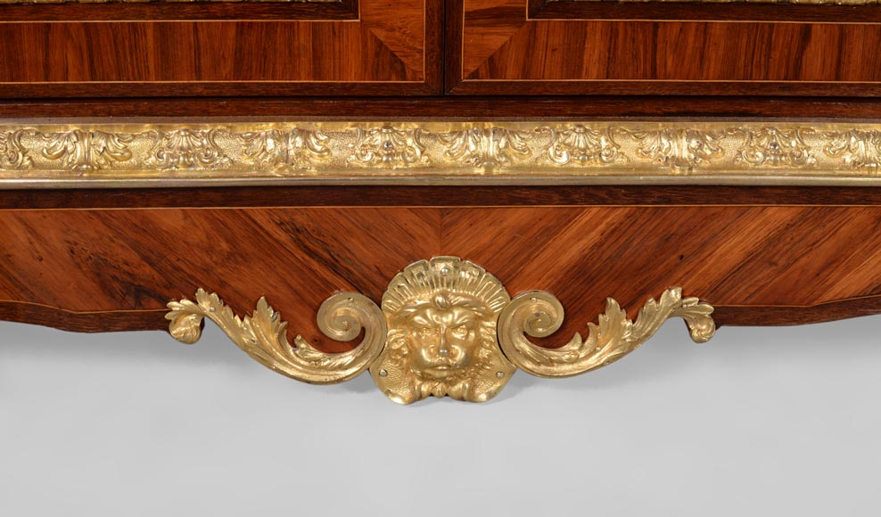 MONBRO (att. to) Pair of cabinets with  espagnolettes in gilt bronze-7