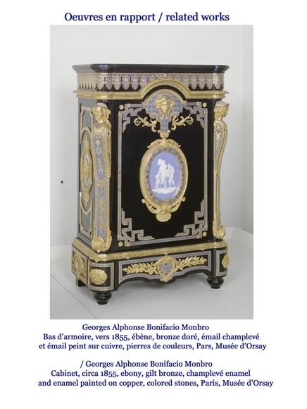 MONBRO (att. to) Pair of cabinets with  espagnolettes in gilt bronze-12