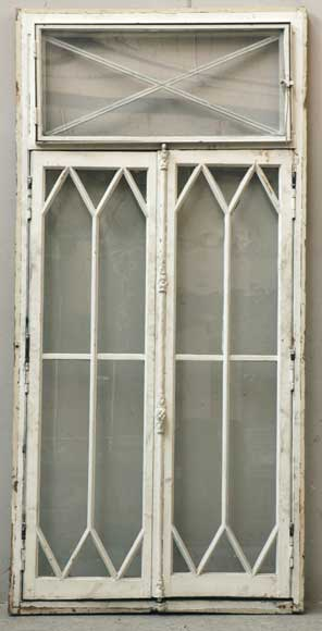 Restoration style wooden and glass double window -0