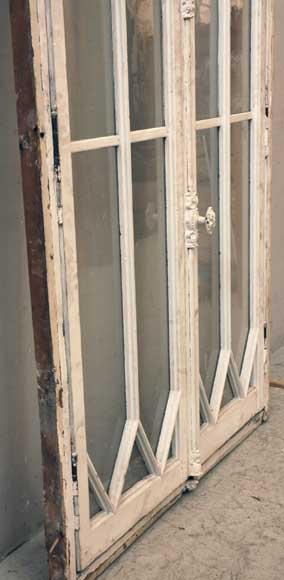 Restoration style wooden and glass double window -6