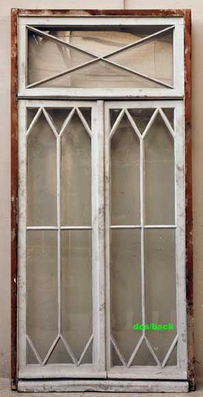 Restoration style wooden and glass double window -7