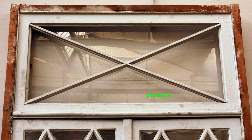 Restoration style wooden and glass double window -8