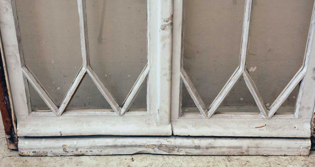 Restoration style wooden and glass double window -10