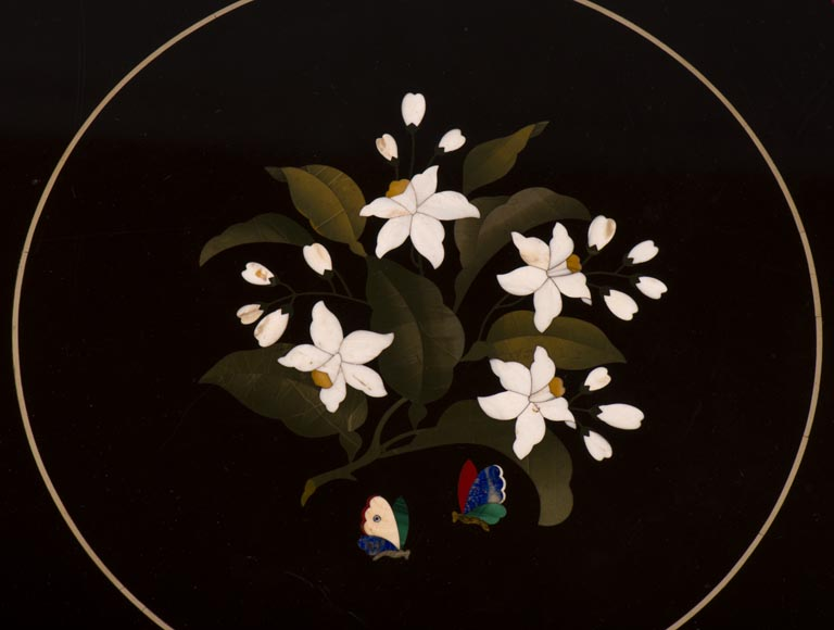 Rare pedestal table in pietra dura-8