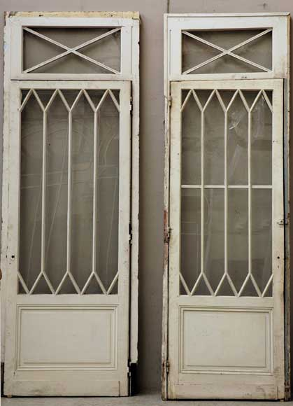 Fake pair of wooden and glass doors from the restoration period - Reference 1068
