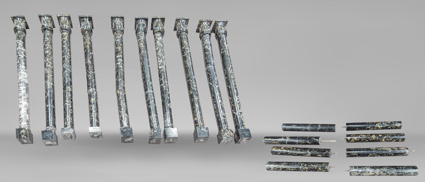 Set of columns made out of Portor marble-0
