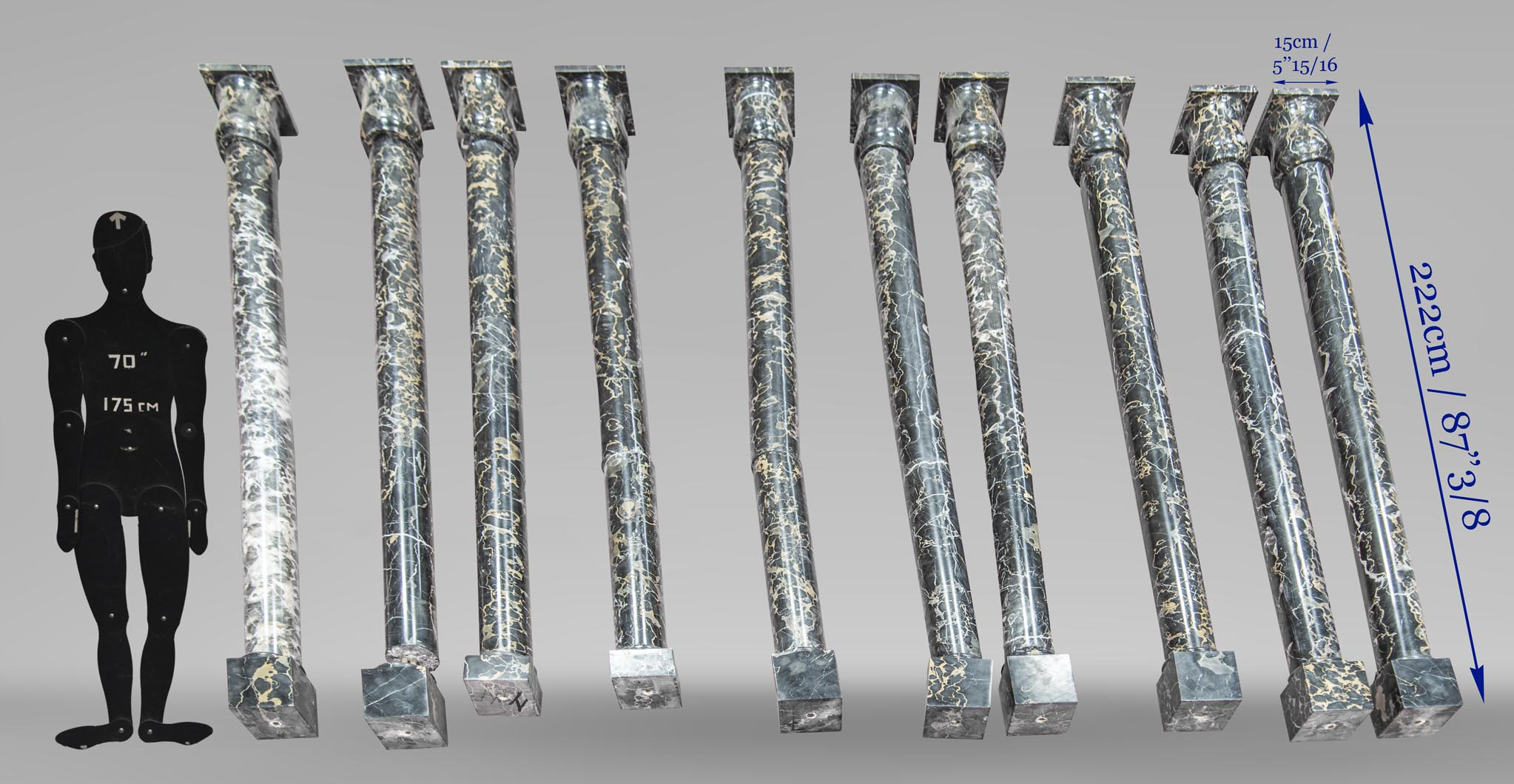 Set of columns made out of Portor marble-4