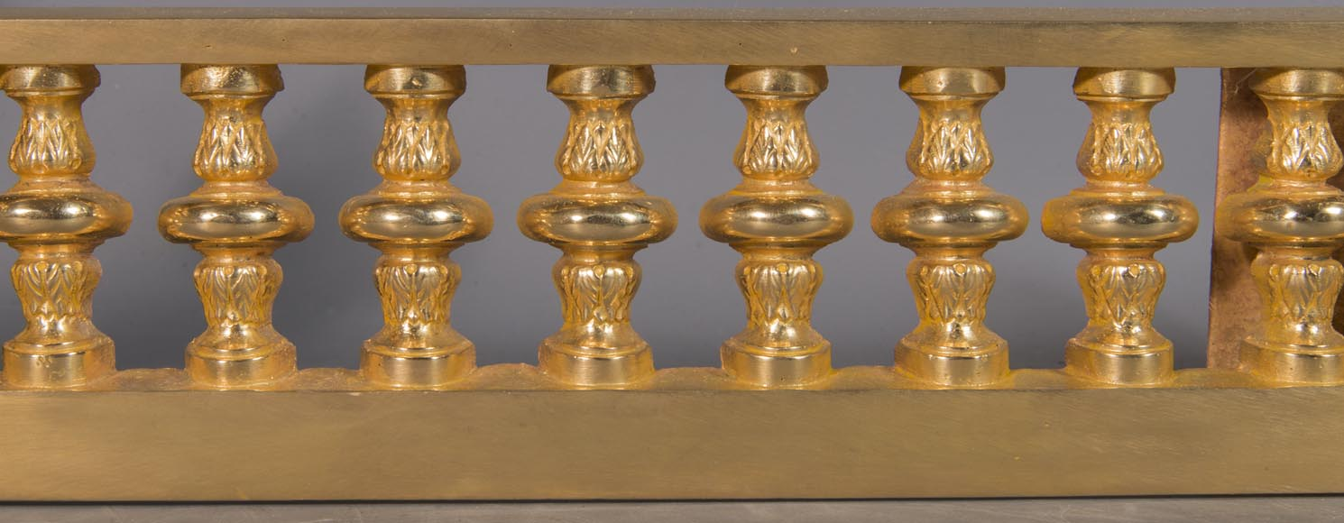 Louis XVI style chenet bar, in gilded bronze-1