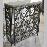 Three rare Art Deco radiator covers in wrought iron, circa 1930