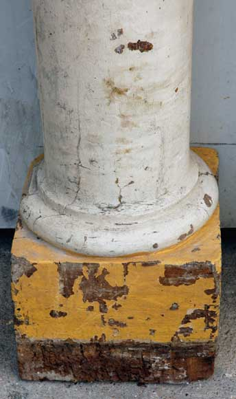 Pair of 18th century wood columns-3