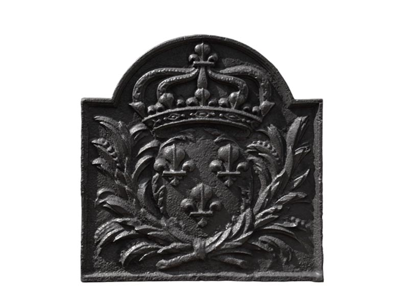 Antique cast iron fireback with the French coat of arms - Reference 10799