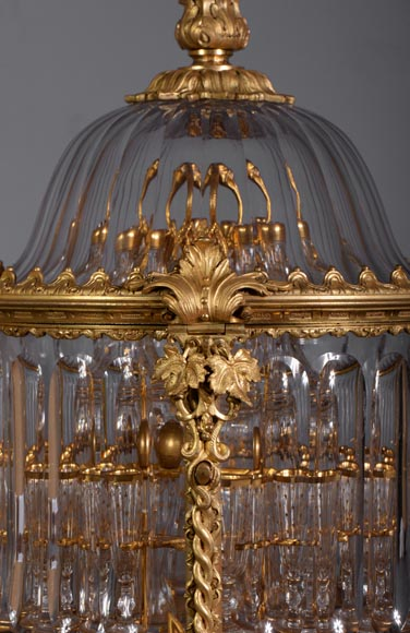 Cristallerie BACCARAT - Crystal and gilt bronze liquor cellar, 19th century-1