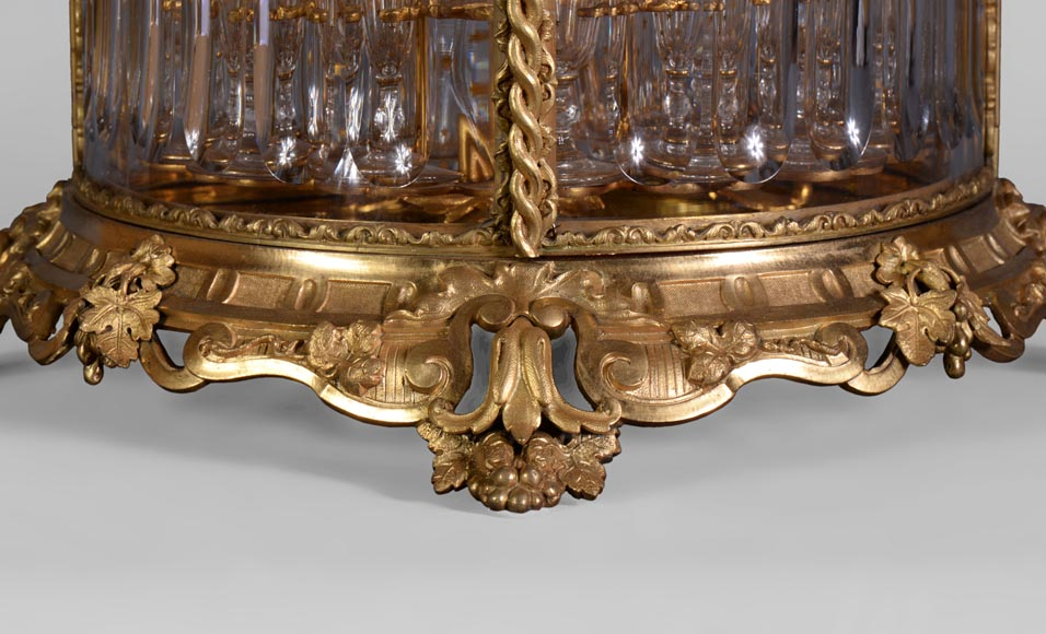 Cristallerie BACCARAT - Crystal and gilt bronze liquor cellar, 19th century-2