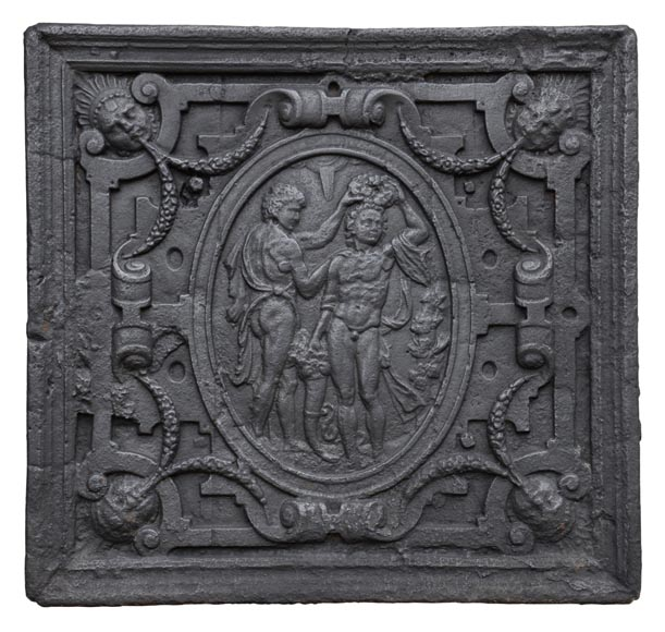 Coronation scene, antique 17th-century fireback - Reference 10811
