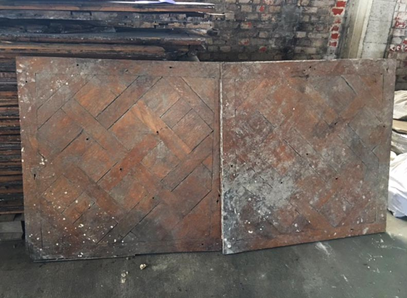 Antique 18th-century Versailles parquet flooring, oak wood - Reference 10824