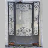 Exterior door with its frame in iron, 20th century