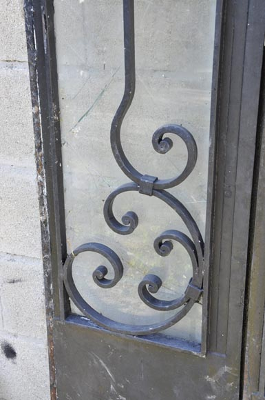 Exterior door with its frame in iron, 20th century-6
