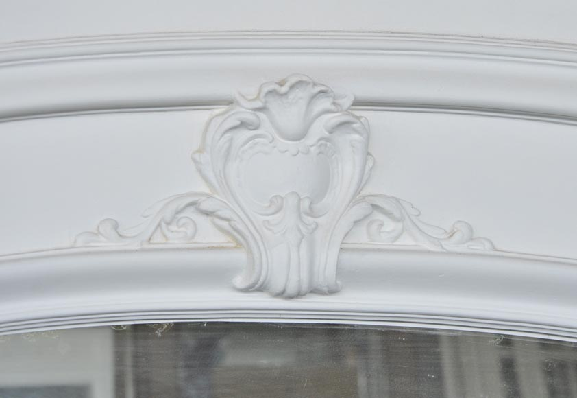 Large antique Regence style overmantel pierglass with putti playing in the vineyards-5