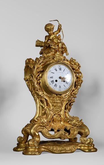 Léon MESSAGÉ (1842-1901) (att. to) - Antique Louis XV style clock-1