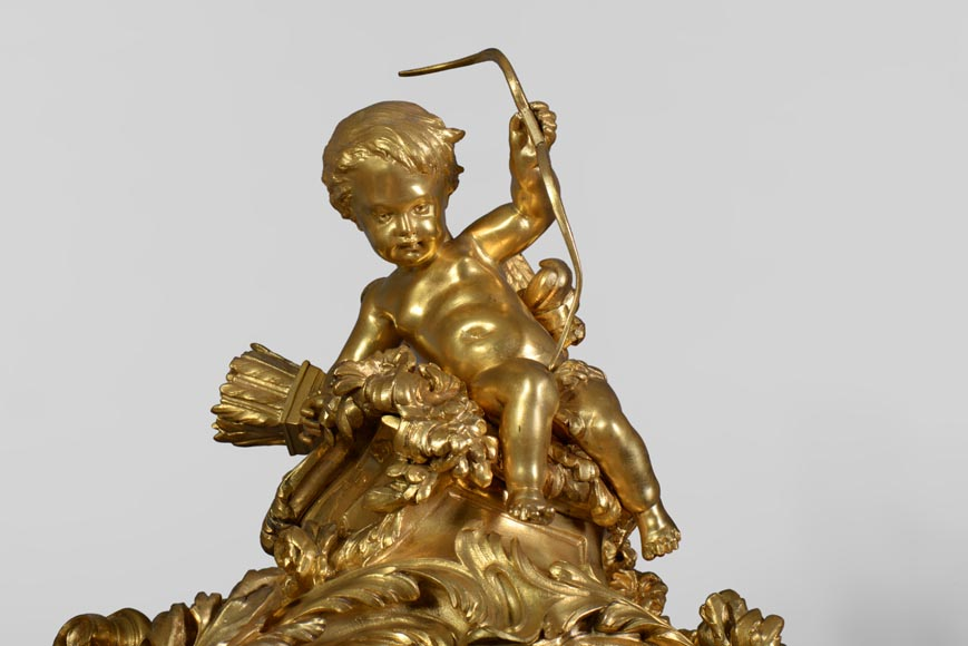 Léon MESSAGÉ (1842-1901) (att. to) - Antique Louis XV style clock-2