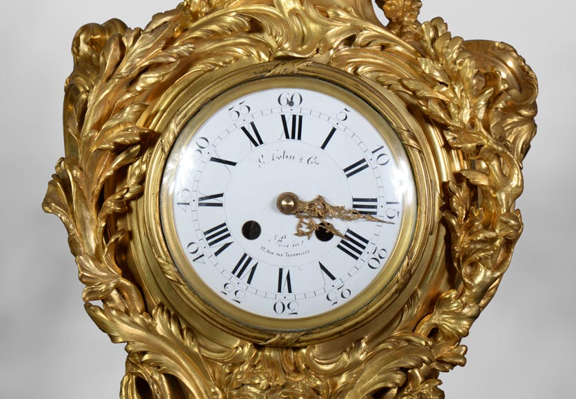 Léon MESSAGÉ (1842-1901) (att. to) - Antique Louis XV style clock-4