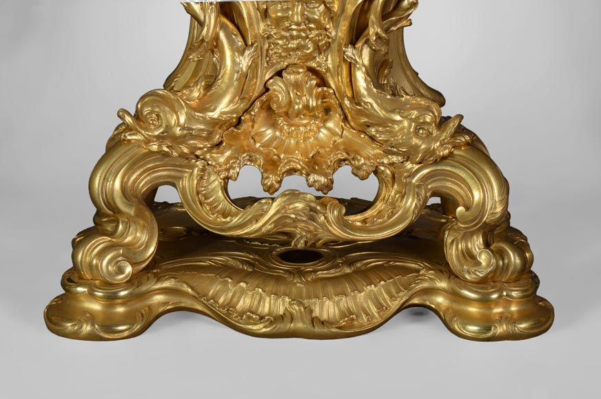 Léon MESSAGÉ (1842-1901) (att. to) - Antique Louis XV style clock-8