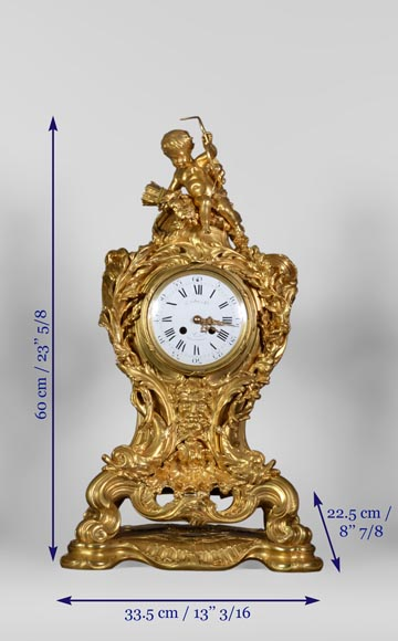 Léon MESSAGÉ (1842-1901) (att. to) - Antique Louis XV style clock-11