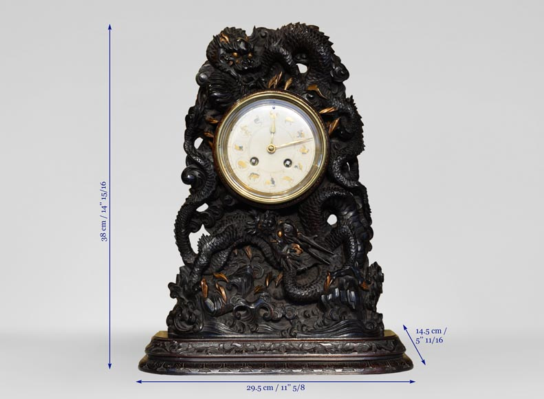 Clock with Chinese zodiac signs-6