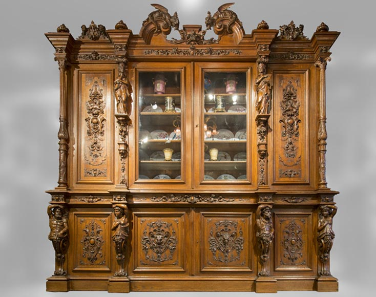 Richly carved Neo-Renaissance style buffet-0
