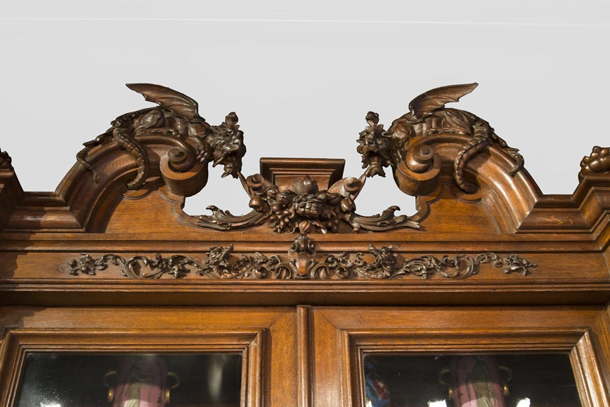 Richly carved Neo-Renaissance style buffet-2