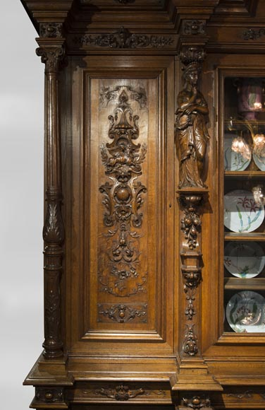 Richly carved Neo-Renaissance style buffet-4