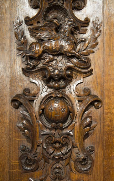Richly carved Neo-Renaissance style buffet-5