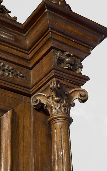 Richly carved Neo-Renaissance style buffet-11